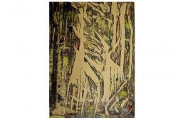 Abstract Wood Block Forest Print