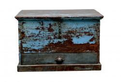 Aged Blue Colonial Box