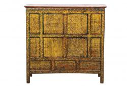Aged Yellow Elm Monastery Cabinet