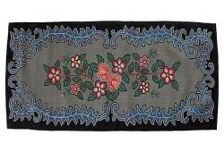 Amish Floral Hooked Rug