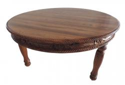 Anglo Floral Carved Dining Round Table