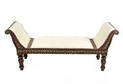 Anglo-Indian Bone Inlay Chaise Lounge