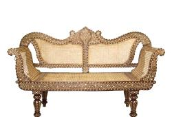 Anglo-Indian Bone-Inlay Settee