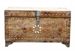 Anglo-Indian Floral Design Bone Inlaid Box