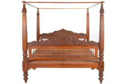 Anglo Indian Mandala Canopy Bed