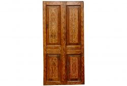 Anglo-Indian Teak Bone detail Inlay Door