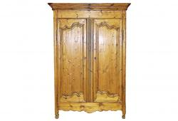 Antique 18th Century French Country Pine Armoire