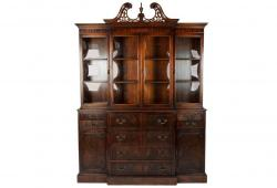 Antique American China Mahogany Cabinet / Hutch