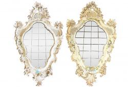 Antique Carved Venetian Mirrors - A Pair