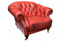 Antique Chesterfield Leather Armchairs