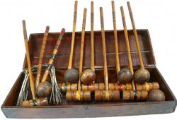 Antique Croquet Set 1800s