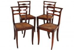 Antique Directoire Period Chairs, Set 4