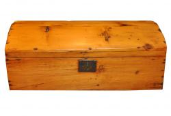 Antique Domed Pine Trunk