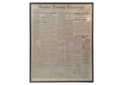 Antique Framed Civil War Era Newspaper