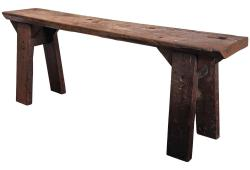 Antique French Oak Workshop Console