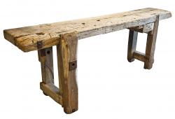 Antique French Workbench Table