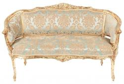 Antique Gilded Louis XVI Style Settee