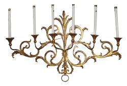 Antique Gold Leaf Candle Wall Sconce
