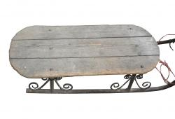 Antique Iron sled with Iron Scrolls