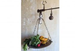 Antique Italian Kitchen Hanging Market Scale