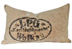 Antique Jute & French Linen Pillow
