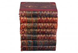 Antique Leather Bound Books English Novels, Set 8