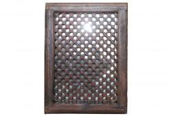 Antique Maysan Latticed Screen Mirror
