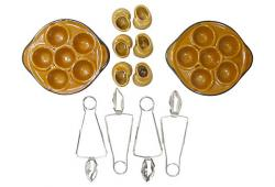 Mid-Century French Escargot Service, Set of 12