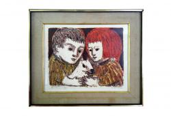 Mid Century Lithograph by Rosenhouse