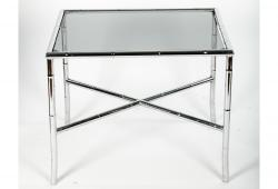 Mid Century Modern Tinted Glass Top Coffee Table .