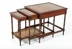 Mid-Century Wood Nesting End Tables