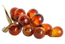 Midcentury Italian Amber Glass Grapes