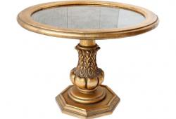 Midcentury Mirror-Top Gilt Table
