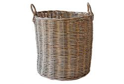 Midcentury Willow Basket