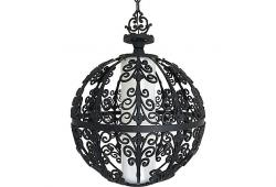 Midcentury Wrought Iron Pendant by Feldman
