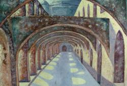 Mission Portico Oil On Canvas