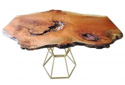 Mod Cherry Burl Live Edge Coffee Table