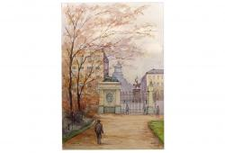 Mont des Arts, Brussels Watercolor