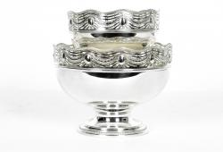 Old English Silver Plated Two Pieces Centre Table Set