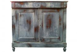 Old Painted French Farmhouse Sideboard
