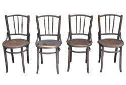 Old Thonet Chairs, Set 4