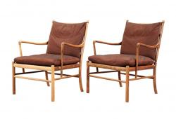 Ole Wanscher PJ-149 Colonial Chairs, Pair