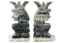 Onyx Aztec Bookends