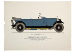 Original Color Lithograph of 1927 Rolls Royce 20