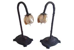 Oyster Shell Lamps, Pair