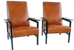Pair Armchairs ARP 642, Collaboration w/Guariche Motte Mortier, Steiner Edition, 1955