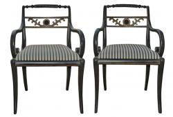 Pair of French Regency Chairs
