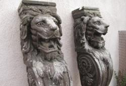 "Pair of Vintage Lion statues, Corbels 54"" Tall"