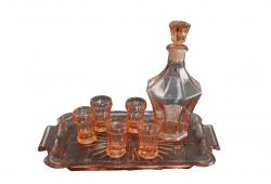 Peach Liqueur Set , Decanter Set