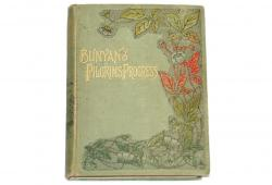 Rare  Antique Book, The Pilgrim's Progress, dated 1889